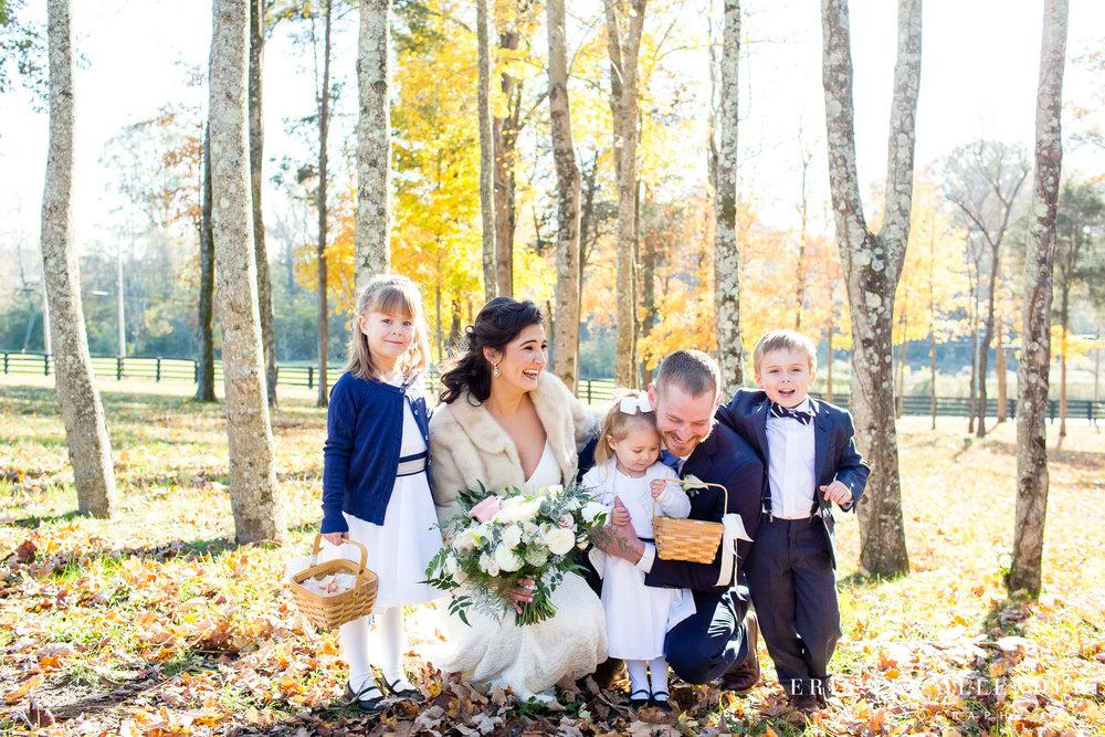bride-groom-with-flower-girls-ring-bearer