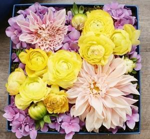 Gift box flower arrangement pink lemonade delectable flowers gift box flower arrangement pink lemonade mightylinksfo