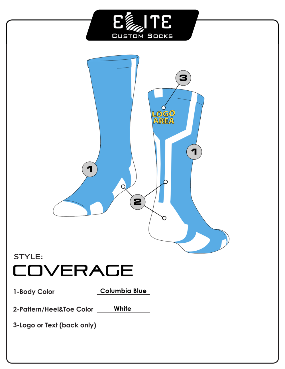 Designs elite custom socks coverageg maxwellsz