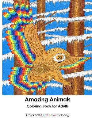 Coloring Book For Adults Amazing Animals Cover