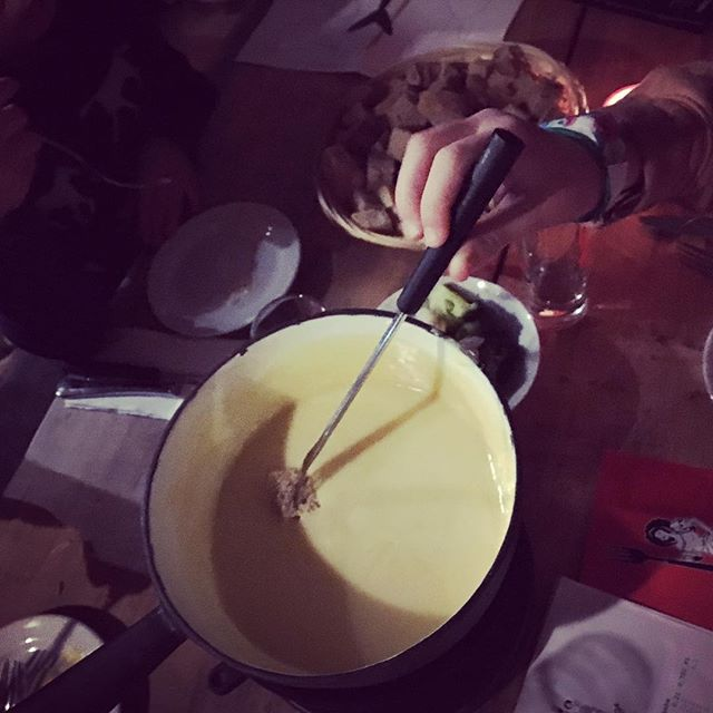 Fondue evening complete with Appalachian music.  #fondue #swissfondue #berlinfood #berlinfoodie #instagood #berlinfoodguide