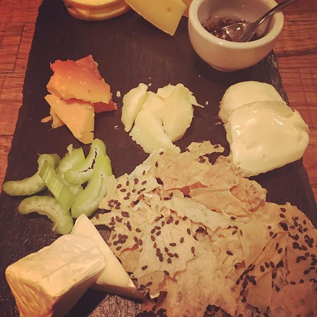 German cheese plate to round another spectacular meal at Noto.  Orangish, Parmesan-esque cheese on the left stole the show (Name?) #notoberlin #cheeseberlin #berlincheese #berlinfood #berlinfoodie #berlinmitte