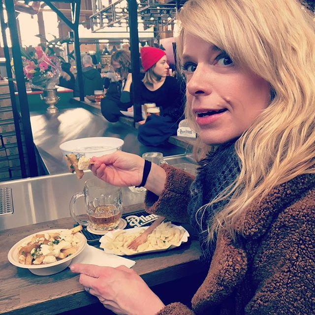 Caught red-handed carbing it up at the @eat_berlin_festival and @arminiusmarkthalle  Cheese Festival.  Poutine, Käsespätzle and Pilsner from the tank.  Must walk home.  #cheeseberlin #berlinfood #berlinfoodie #poutine #käsespätzle #arminusmarkthalle #eatberlin #berlinfoodguide
