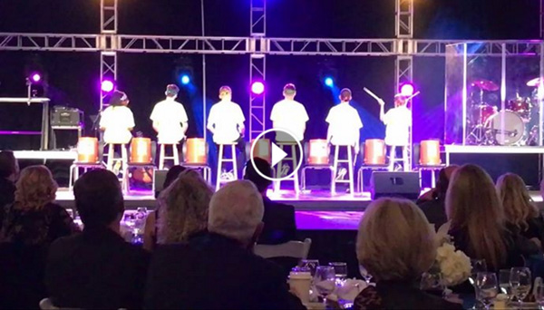 The RCS Street Beats MS Drum Line performing at the 2017 RCS Gala!