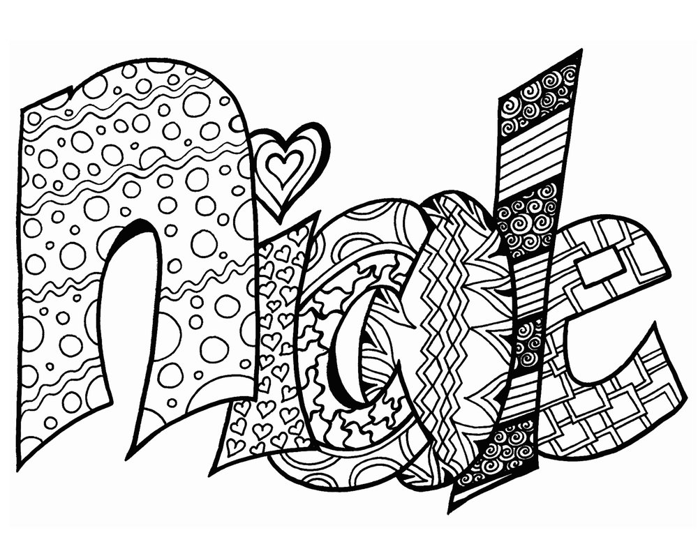nicole free printable name coloring page u2014 stevie swift