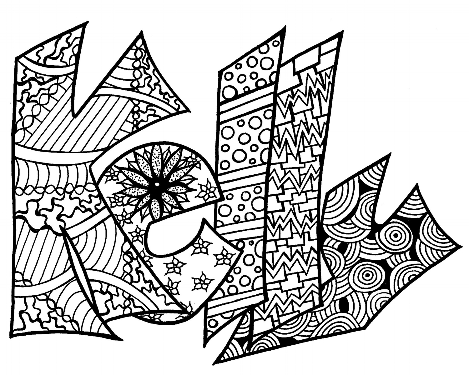 Coloring Pages Of The Name Kaitlyn