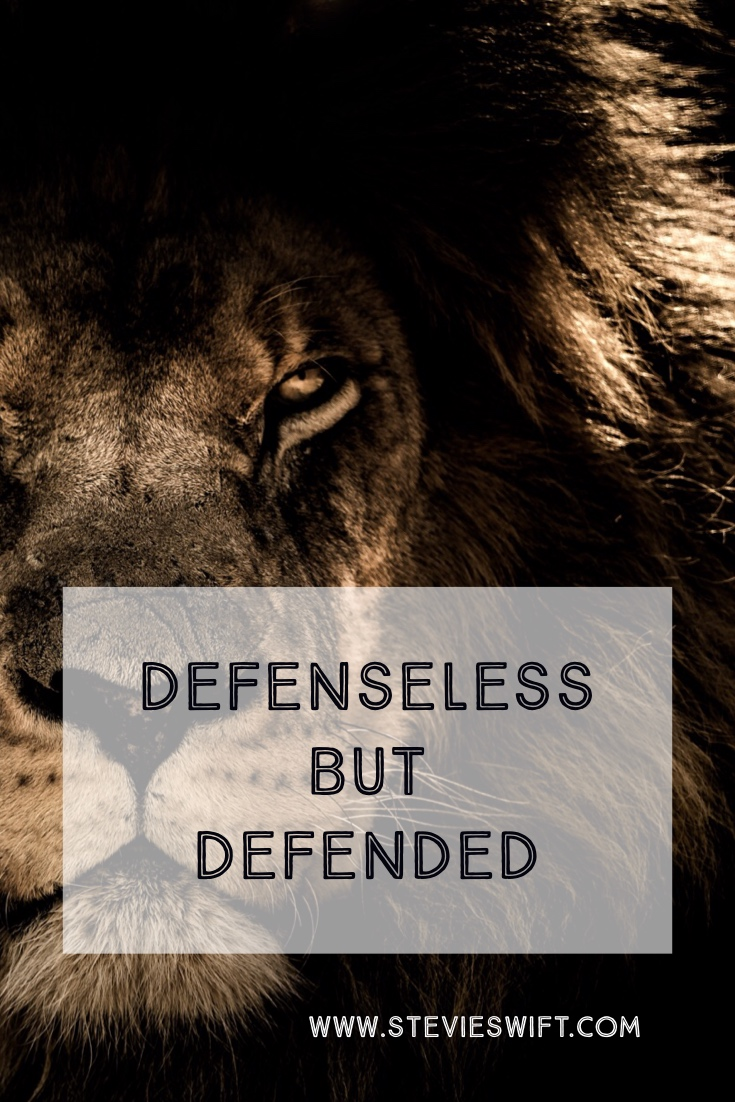 I have no defense but I have a defender #christian #lionofjudah #christianinspiration