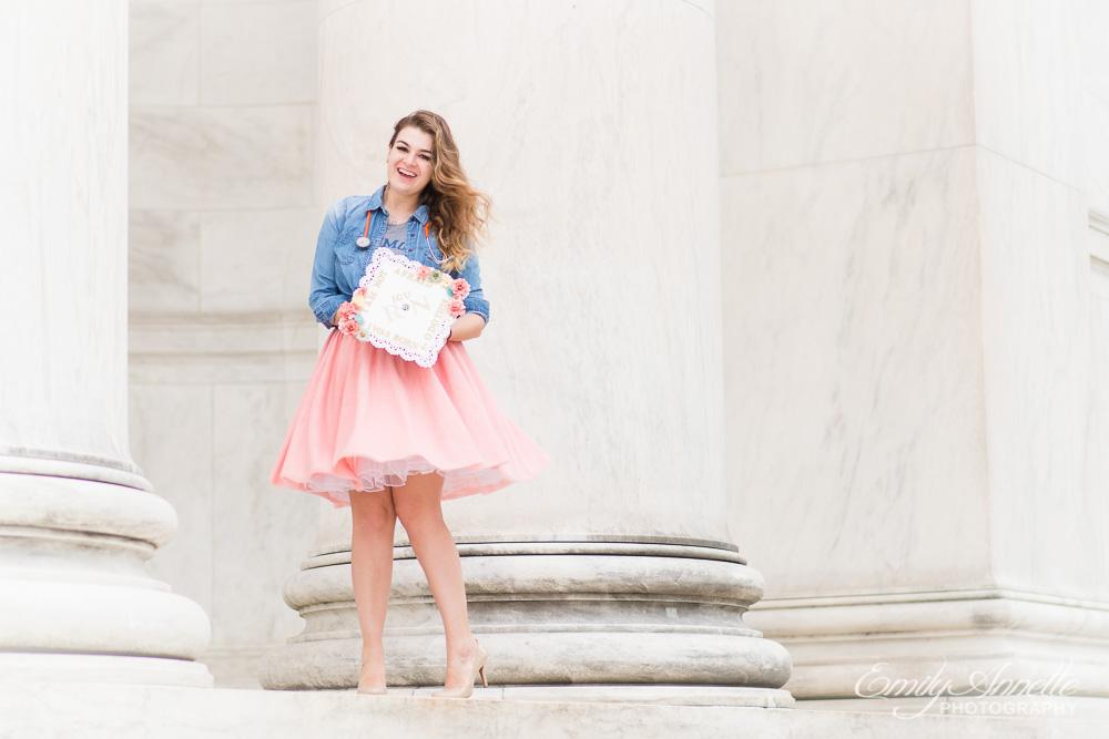 Emily-Annette-Photography-Christy-Nursing-Graduate-Marymount-University-Cap-Gown-Washington-DC-02.jpg