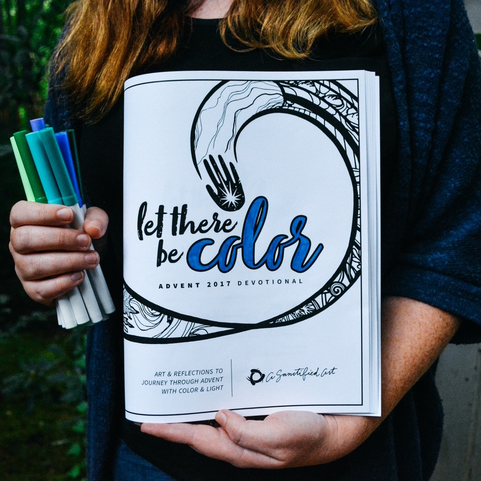 let there be color advent devotional 1 copy for individual use a sanctified art