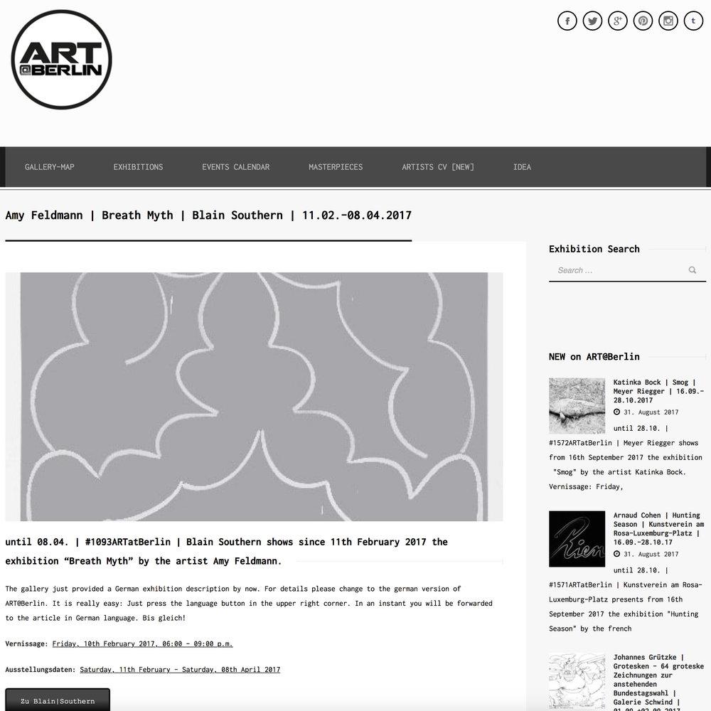 ART BERLIN   Blain Southern   Breath Myth  by Amy Feldman