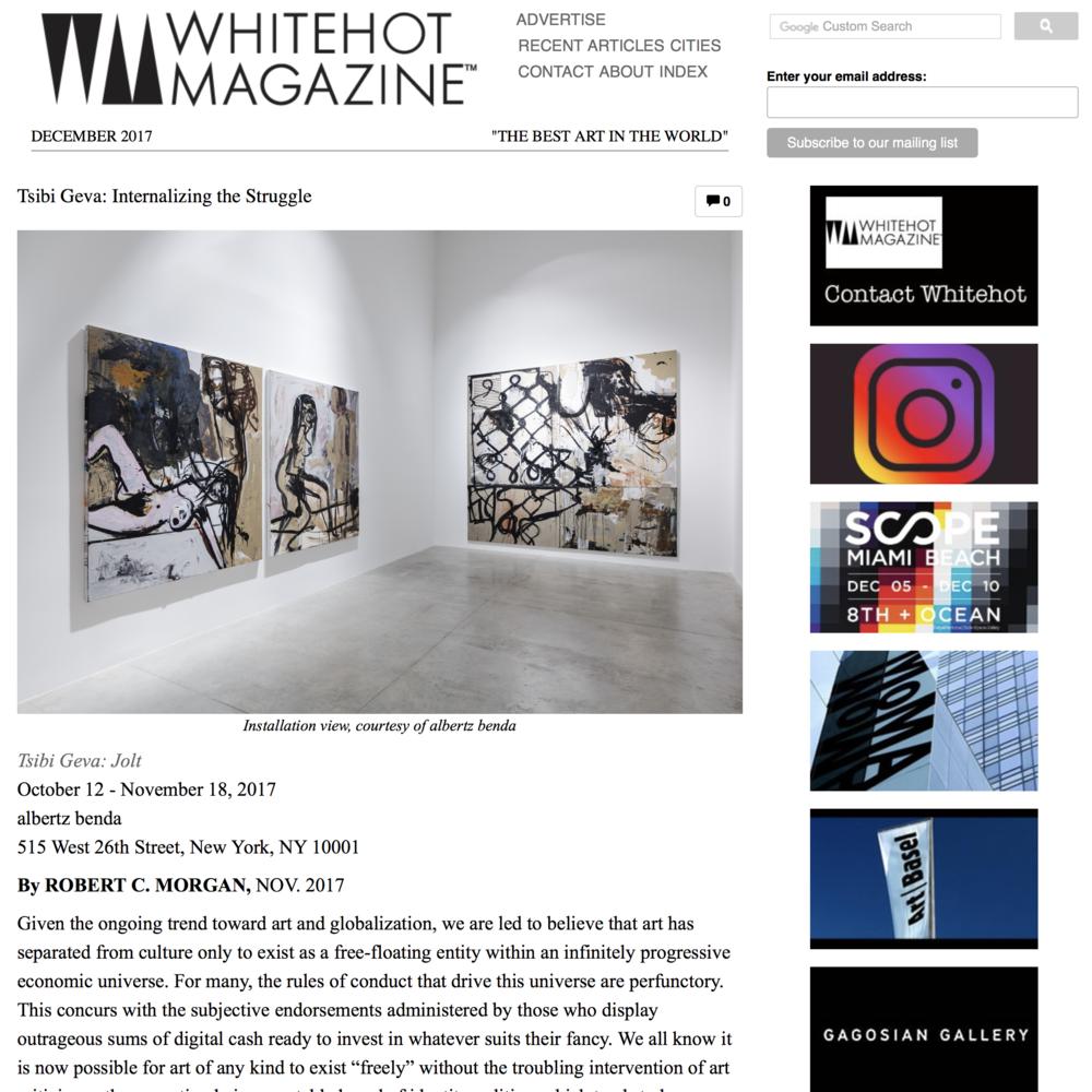 WHITE HOT MAGAZINE  Albertz Benda  Tsibi Geva: Jolt
