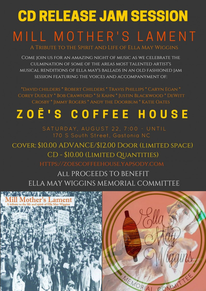 Aug 22 event Zoes coffee Mill Mothers lament