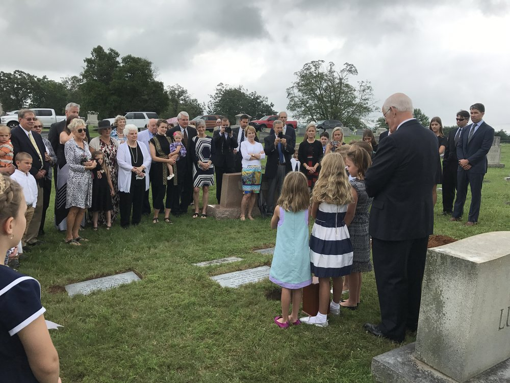"Nana's great-grandchildren singing ""Shall We Gather at the River"" graveside in Sweetwater, TN"