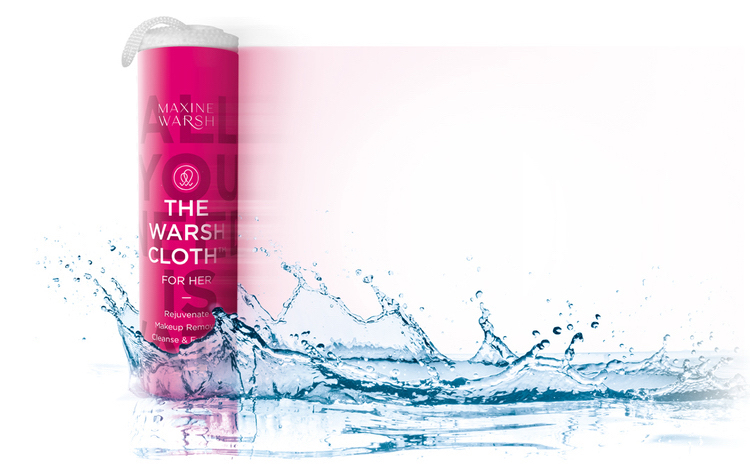 WARSH Cloth for Her, the miracle makeup remover. All you need is water!
