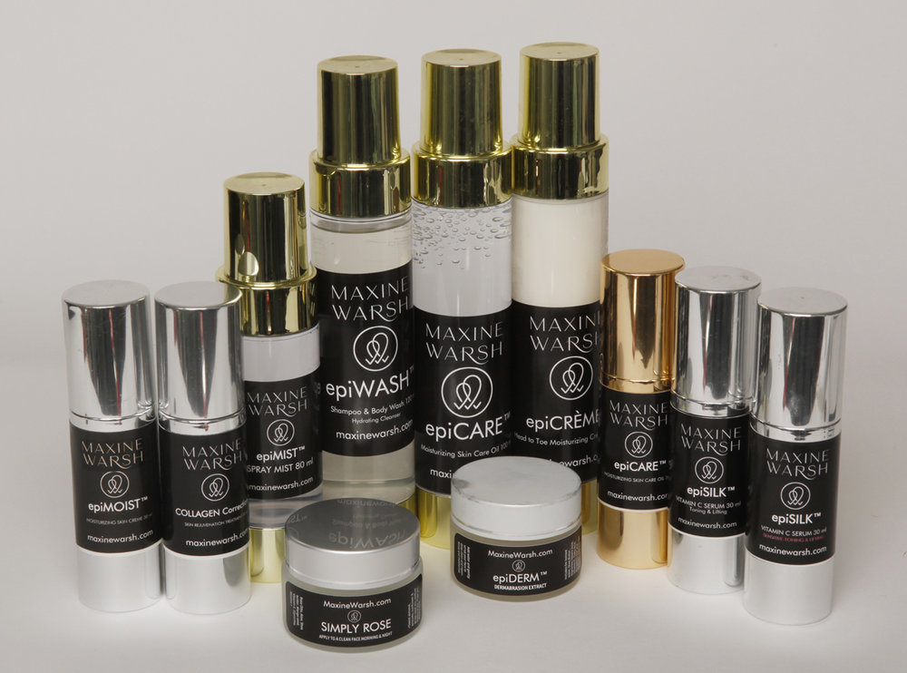 Check out the Maxine Warsh all-natural skin care product range. - No preservatives or chemicals.