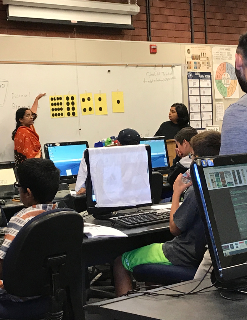 - MAPin Cybersecurity Boot Camp: MAPin hosted a one-week Cybersecruity – Ethical Hackers Boot Camp. 30 middle school students participate and by the end of the week, students presented in front of their classmates, instructors, family and friends the various skills learned.