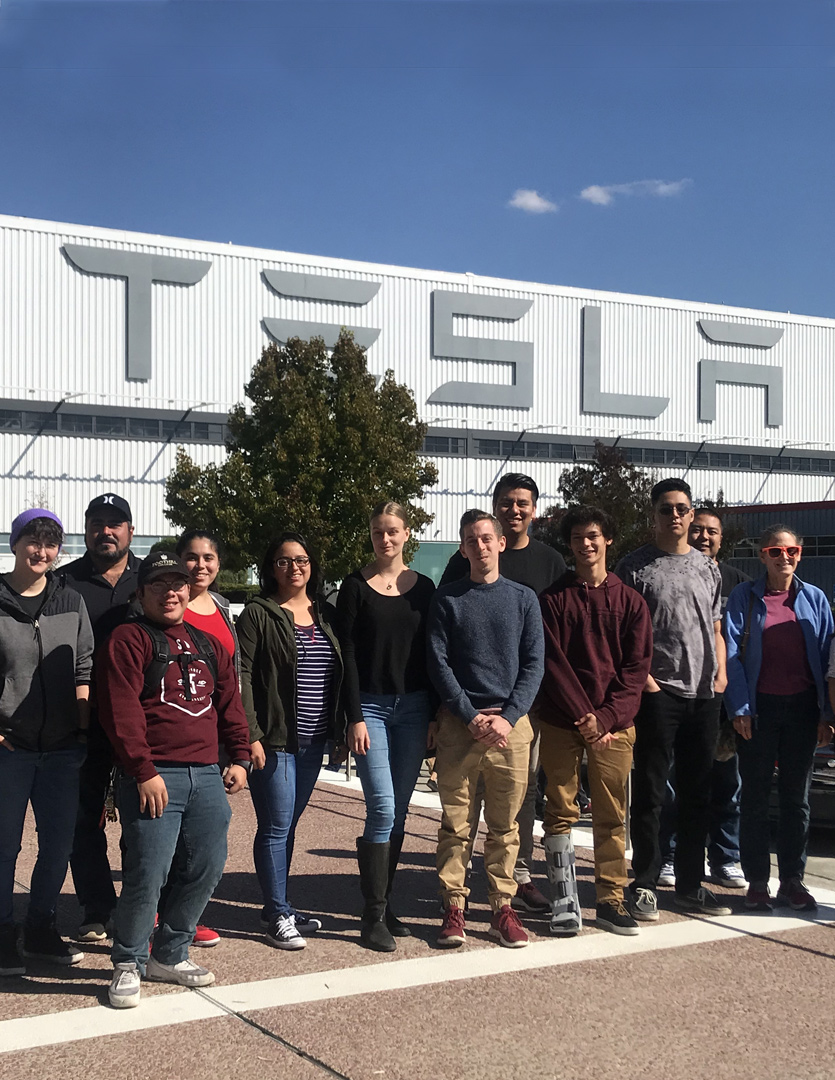 - STEM Core Students Tour Silicon Valley Companies: In 2017-2018, over 60 Foothill College students toured industry sites including, Intuitive Surgical, SAP, & Tesla, engaging with employers and learning about internship and career pathway opportunities. Students also gained a better understanding of the manufacturing and engineering processes and how industry standards in technology impact process efficiencies.