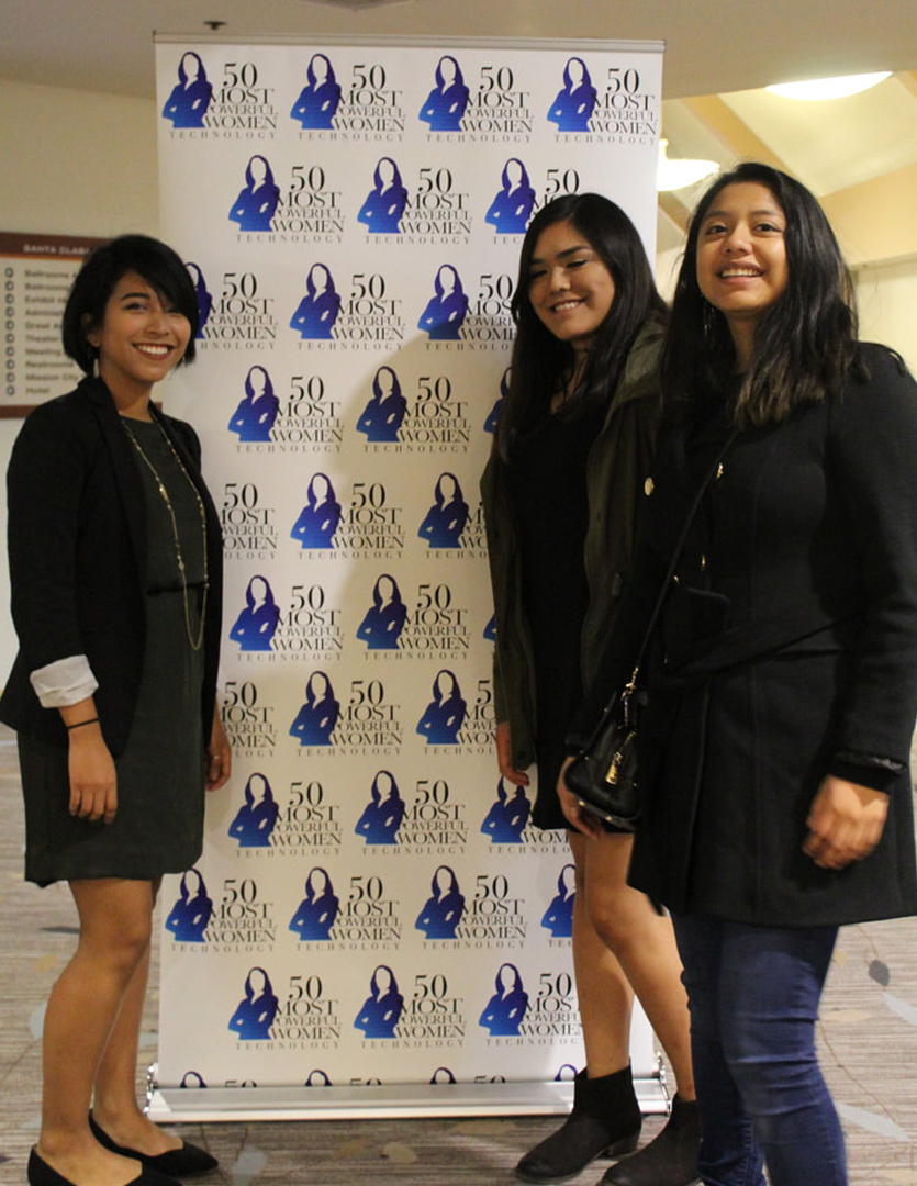 """- Cracking the Code to Success: In Academic Year 2017-2018, San Jose City College's 10 STEM Core students attended the Top 50 Most Powerful Women in technology Awards Dinner; hosted by the National Diversity Council to engage with powerful women in tech who have broken down barriers and continue to drive change, innovate, and inspire others to """"Cracking the Code to Success."""" Students networked with women leaders representing Symantec, Applied Materials, NetApp who shared their stories, gave advice on their pathways and discussed struggles that led to their success."""