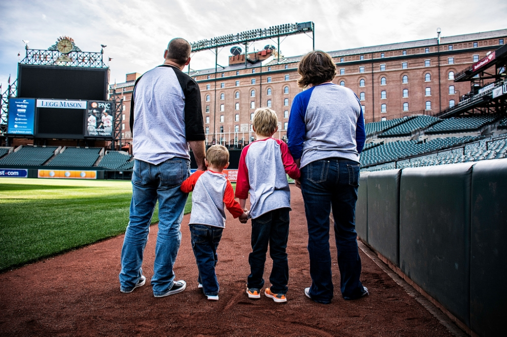 Family Portraits at Oriole Park at Camden Yards in Baltimore Mar