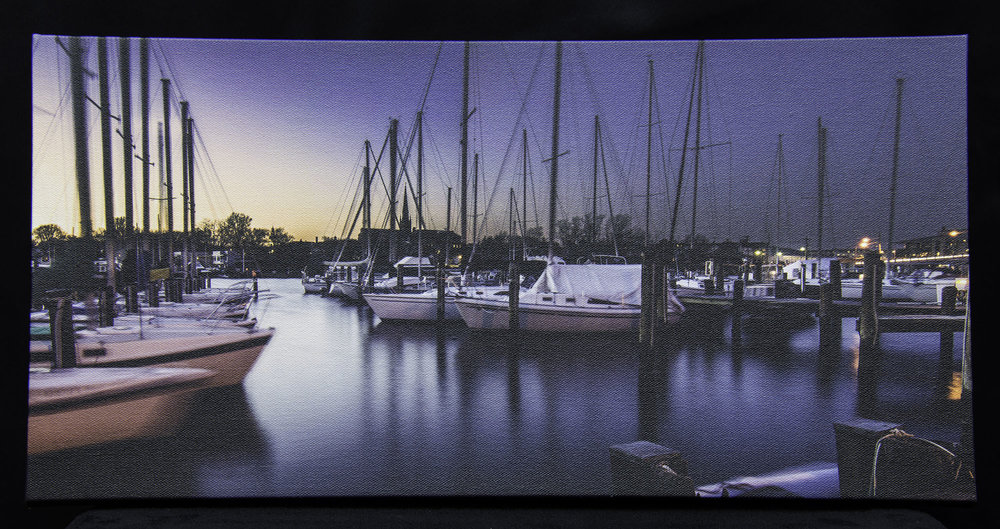 """Twilight at the MRE,"" 10x20 canvas."
