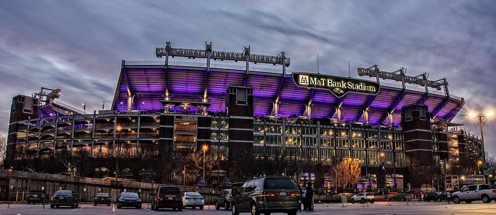 """M&T Bank Stadium,"" 12x36 Canvas Gallery wrap."
