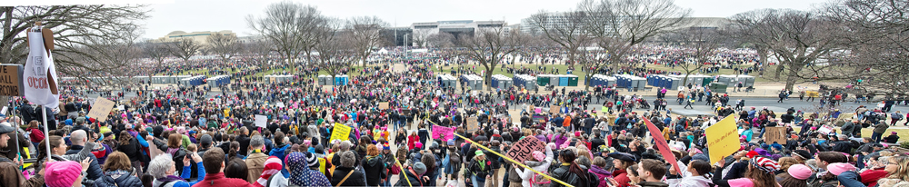 The crowd of people that filled the National Mall was an epic sight to see from atop the steps of the National Gallery of Art.