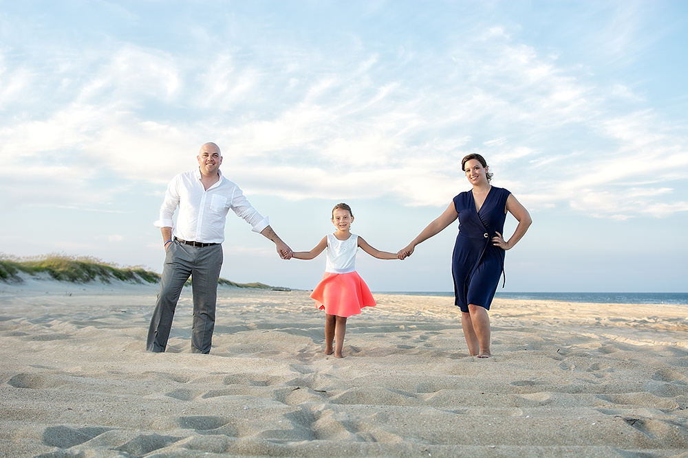 Family Portraits on Hatteras Island in Avon, OBX, NC