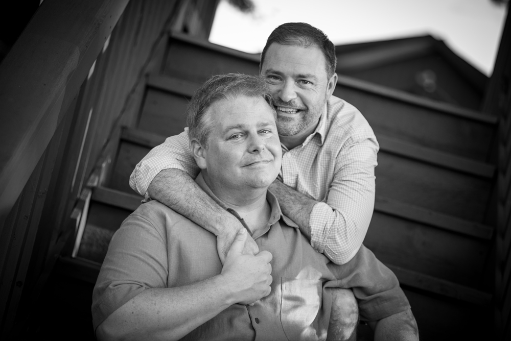 Gay engagement portraits in Severna Park, MD