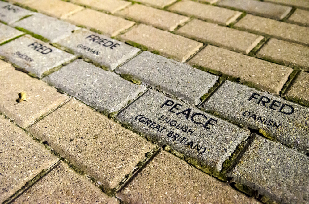 Peace brick at Mount St Mary's University