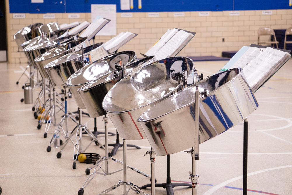 NOT Jumbi Jams, but a full set of steel drums from Catonsville High School
