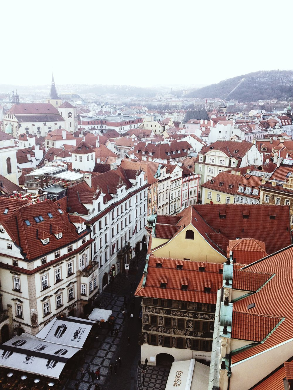 Prague, view from clock tower