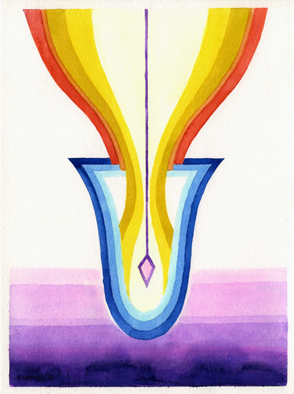Receptacle- watercolor 2012
