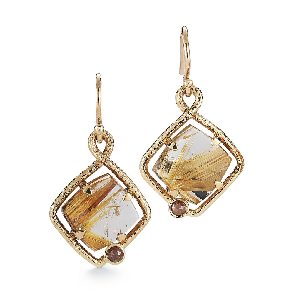 Terra Firma Collection: Rutile Earring's