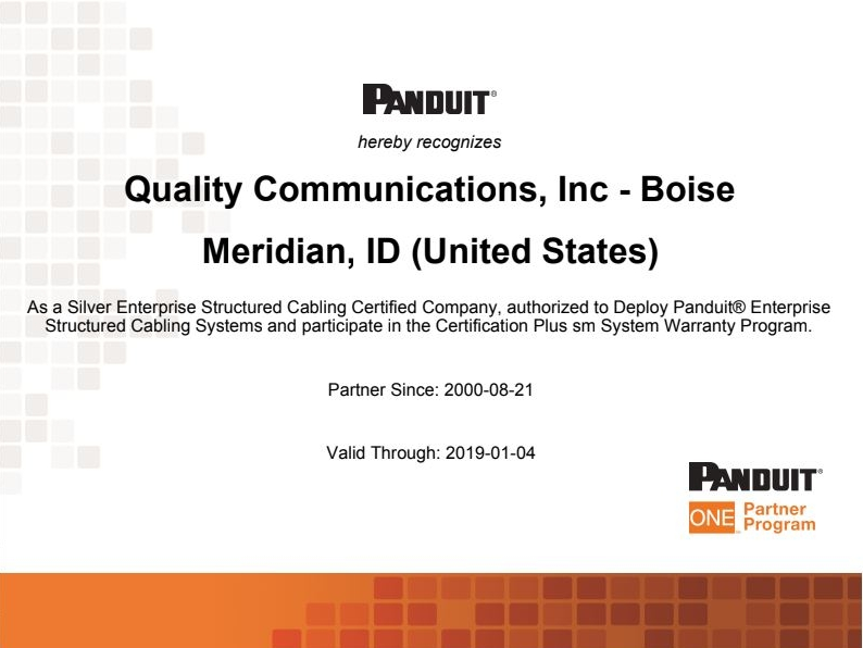 Panduit certification.jpg