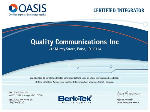Certifications — Quality Comm Inc.