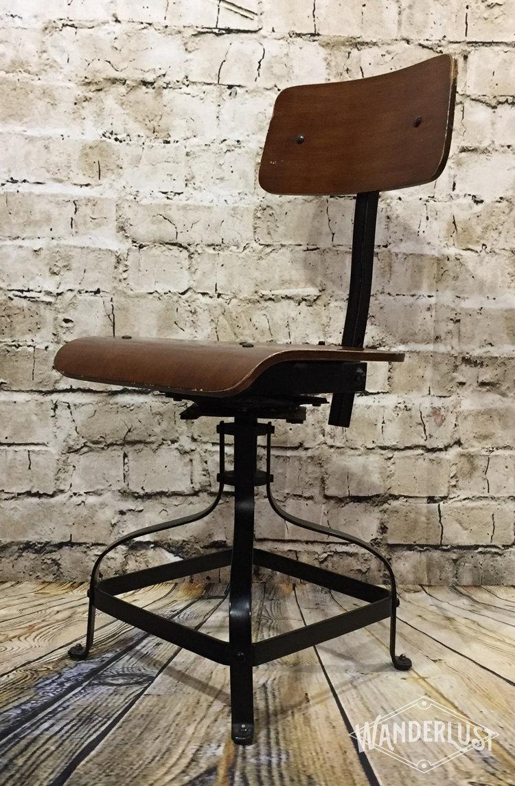 Vintage Industrial Desk Chair - Vintage Industrial Desk Chair — Wanderlust Vintage Market