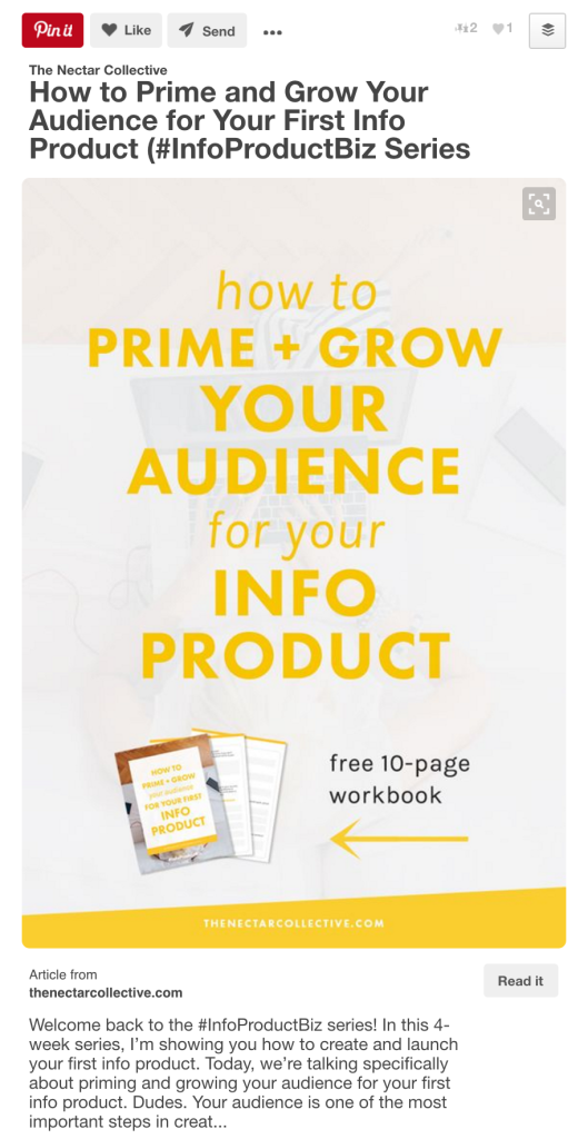Pinterest is a powerful tool to help you grow your blog and business, if used correctly. You need to create viral, pinnable images that are consistent with your brand for all of your content. Let me show you how to do this! Check out this viral pin blueprint…