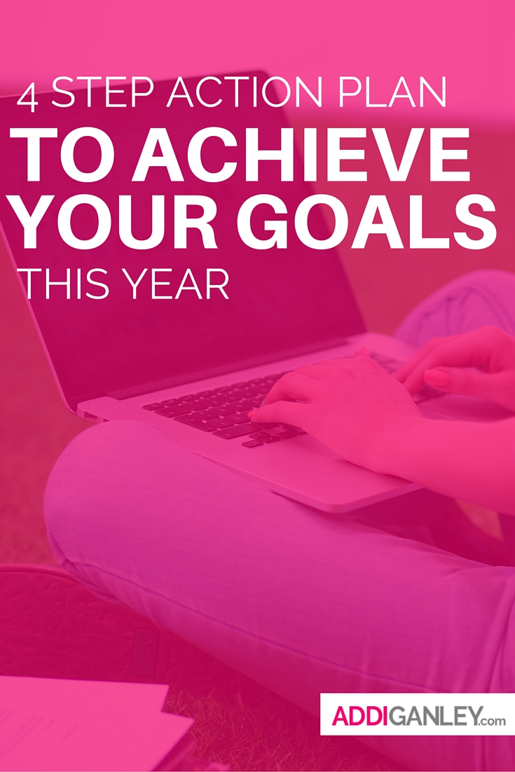 Need helping setting goals you can accomplish. Check out this 4 step action guide that will help you plan and set goals for your blog and business this year.