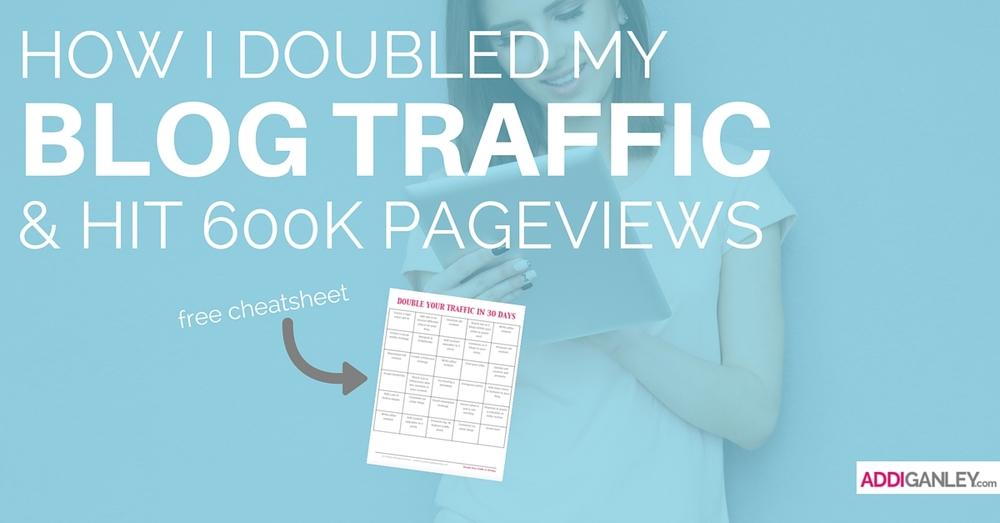 Want to increase your audience and double your traffic? Find out the strategies I used to double my blog traffic last year and reach 600K monthly visitors.