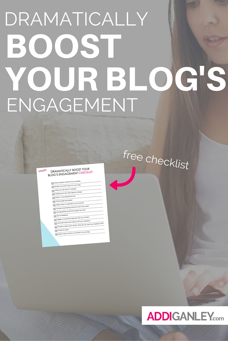 Want to build an engaged community? Not sure how to get your readers to comment and share your content. Click now to find out how these small changes can make a huge impact --- free checklist!