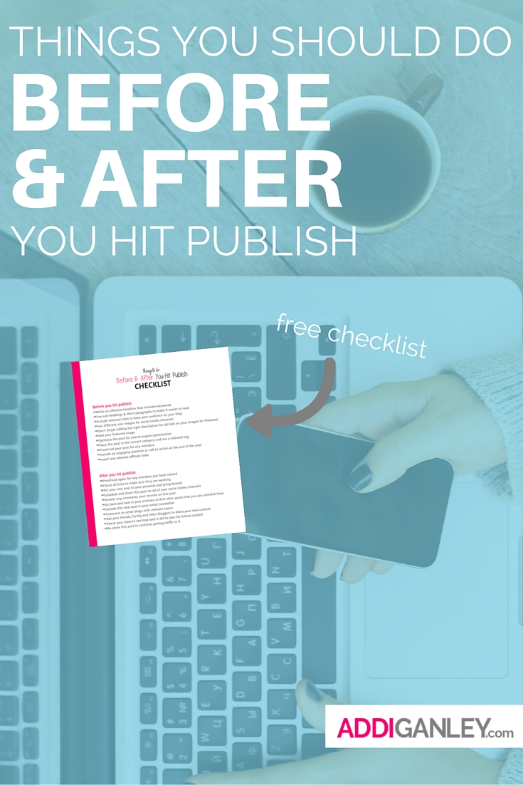 If you are a blogger then you need to check out this checklist of items on what to do before and after you hit publish on a post. You spend so much time perfecting every single post so you want it to be seen. This list of tips will help guide you on what you need to do. Read the full list now...