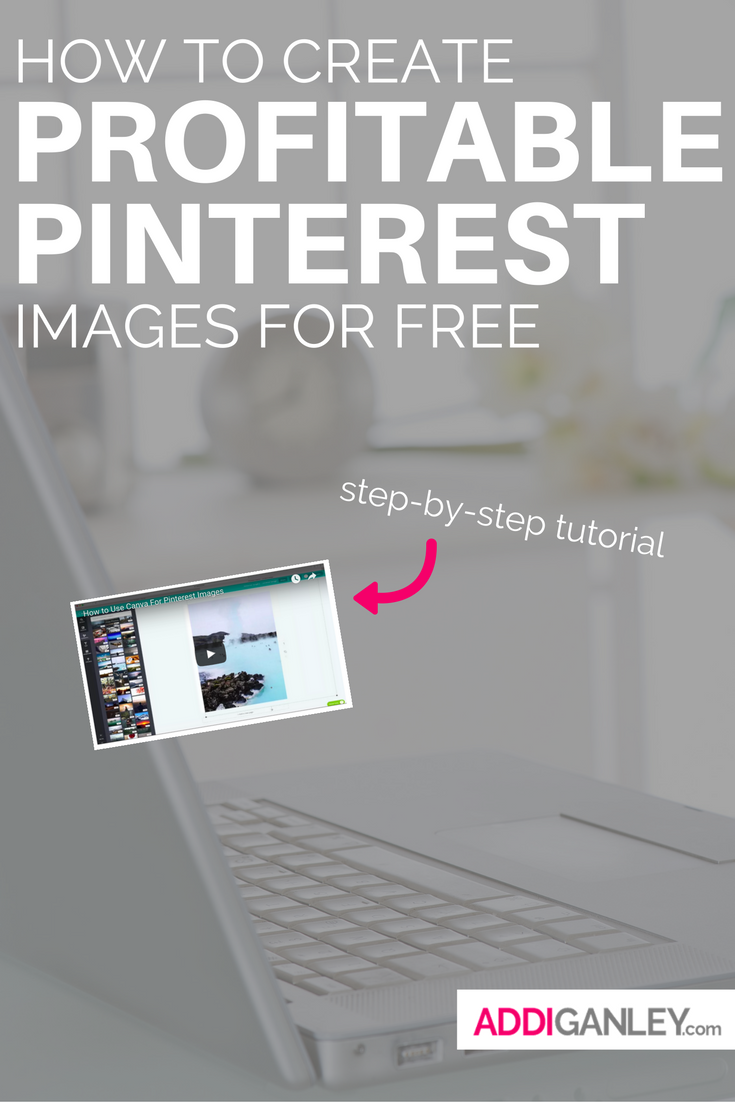 Do you want to create profitable Pinterest pictures for your business? Check out this step-by-step tutorial and learn how to create the perfect pin using Canva so that you can make profitable pinterest images for free!