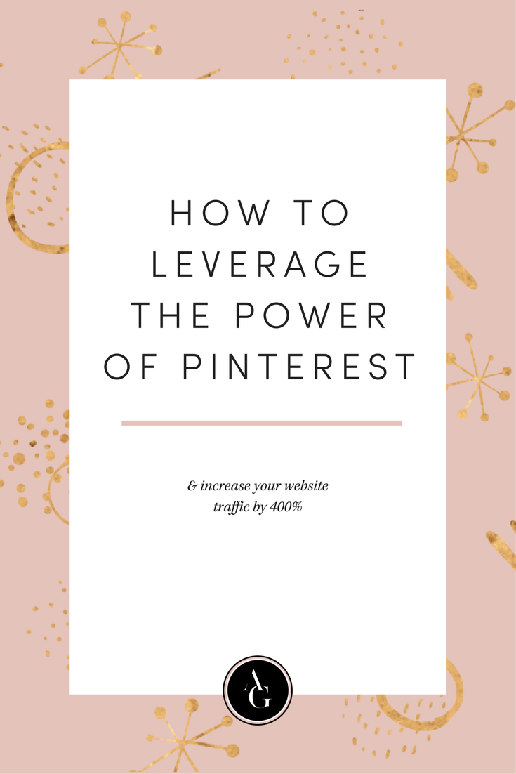 If you aren't already using Pinterest as a tool to drive traffic to your blog, then you are missing out.  You NEED to be leveraging the power of Pinterest to grow your business.