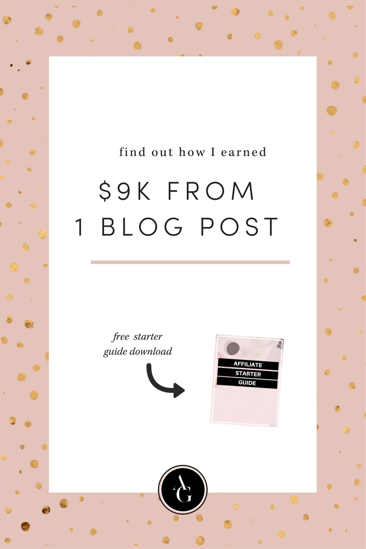 How I earned $9K from 1 blog post. Learn my exact strategies I used so you can replicate the process.