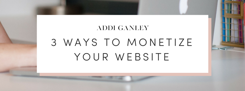 Looking to make money from your blog? It can be difficult figuring out how to make money or where to start. Check out these 3 ways to monetize your website to see which option will work best for you!