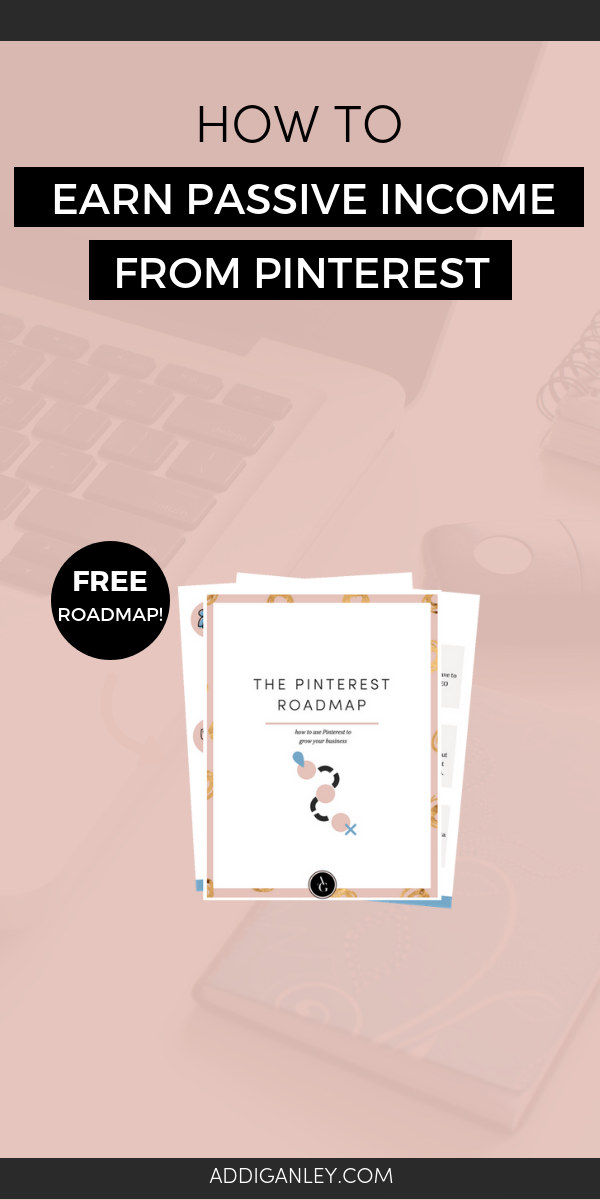 Are you struggling to earn money for your business? Let me help you! Find out how you can leverage Pinterest to earn passive income. Plus, download a FREE copy of my Pinterest Roadmap to help guide you step-by-step!