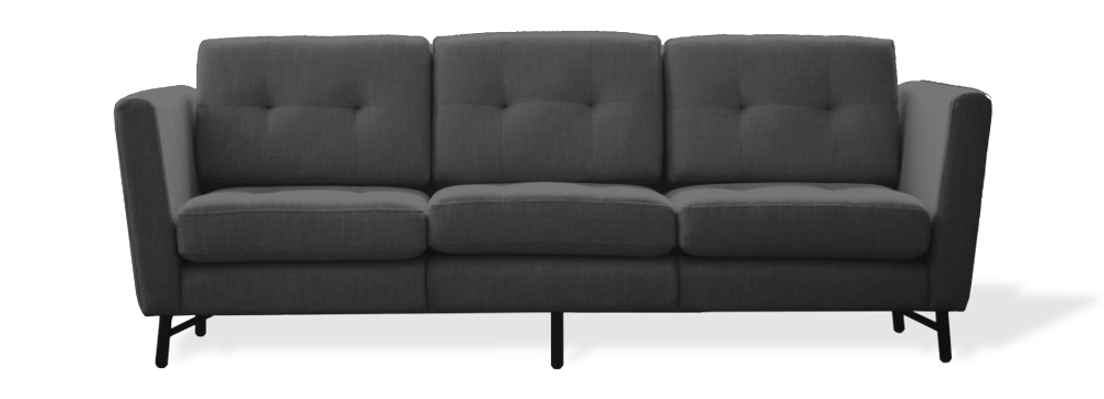 charcoal three seater sofa