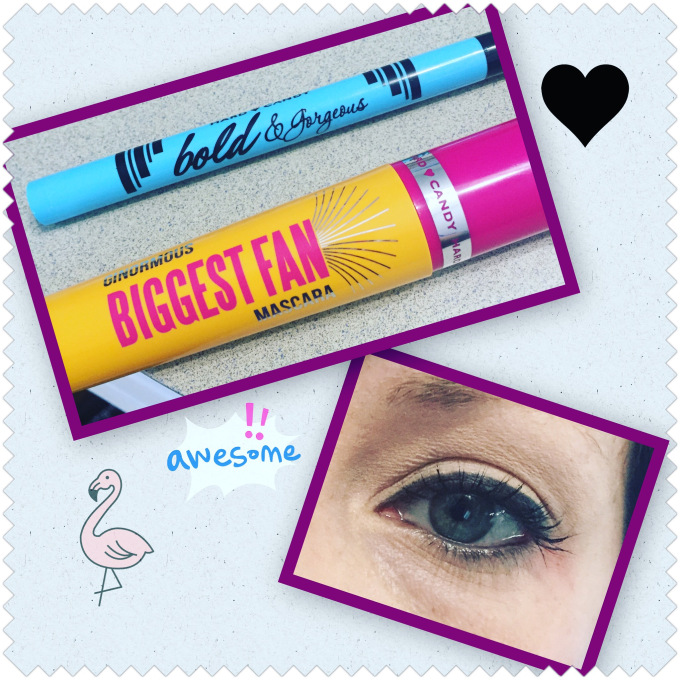 Hard Candy bold & gorgeous liner and ginormous biggest fan mascara