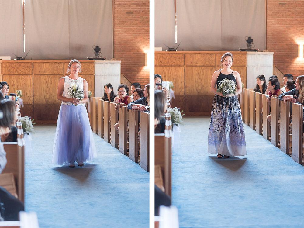 Elkridge-Furnace-Inn-Wedding-Ceremony-Provessional-Bridesmaid-2