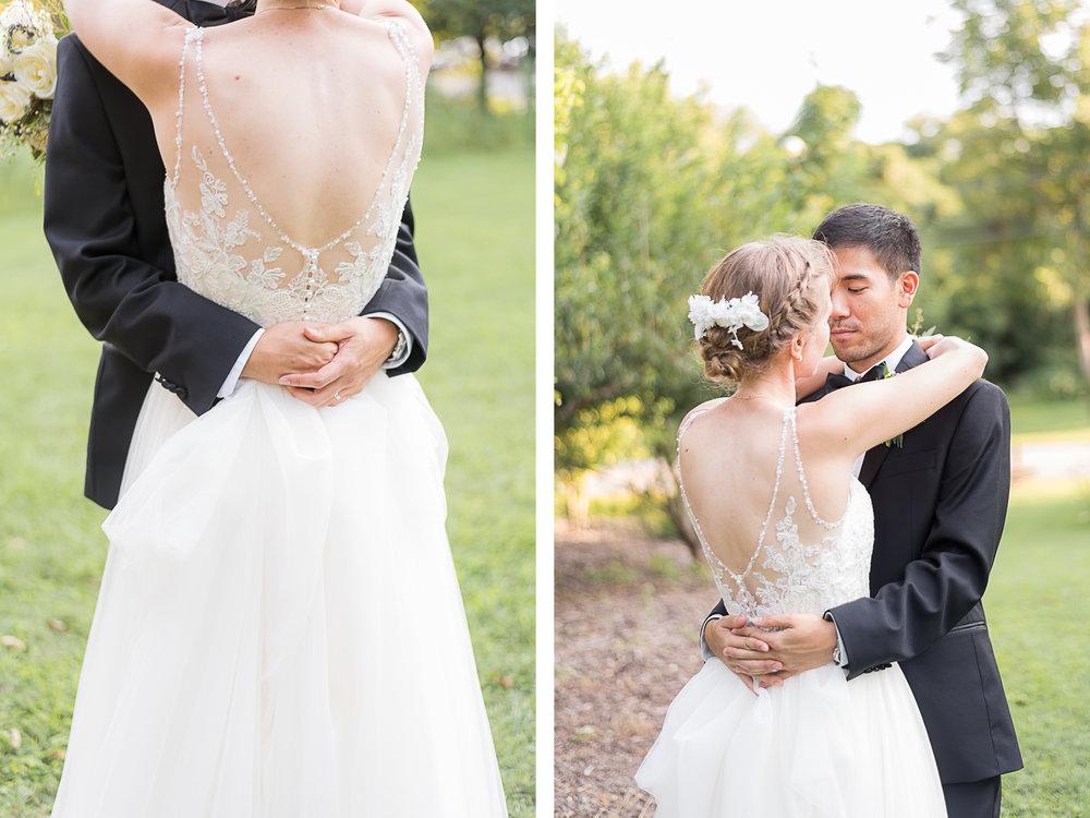 Elkridge-Furnace-Inn-Wedding-Bride-Groom-Portraits-Garden-Hug